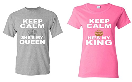 f29d1c4656 Couple matching Keep Calm She's My Queen - He's My King - Import It All