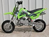 49cc 50cc Green 2-Stroke Gas Motorized Mini Dirt Pit Bike