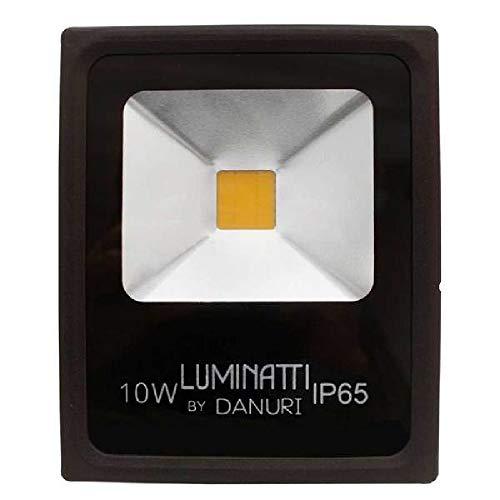 Projetor Led 10w 3000k Ip65 Bivolt Luminatti