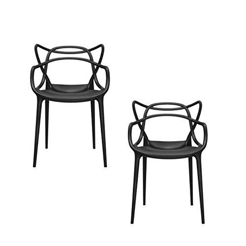 MASTERS Stuhl 2-er Set schwarz (09)