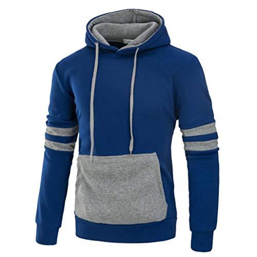 Abercrombie Clothing Store - Willsa Men's Shirts Long Sleeve Autumn Winter Splicing Pocket Casual Sweatshirt Hoodies Blouse