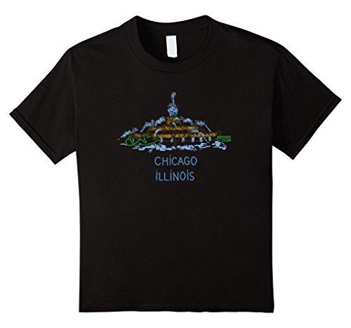 Kids Chicago Buckingham Fountain Illinois T shirt Tshirt tee 10 Black - Buckingham Fountain