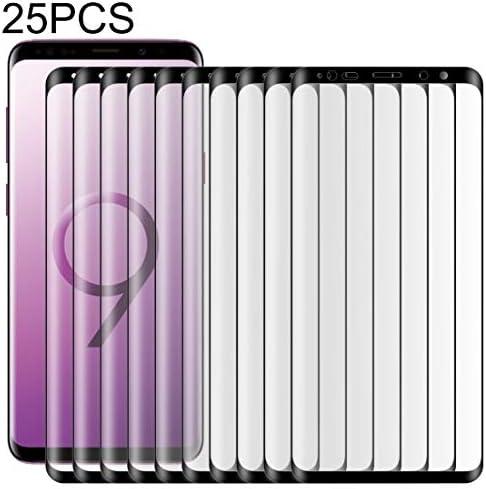 WTYD 電話アクセサリー ギャラクシー注9 0.3ミリメートル9H表面硬度3D曲線エッジフルスクリーン強化ガラスフィルムの25 PCS