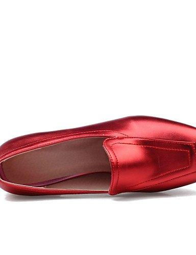 5 Vestito Tacco Tacchi casual Rosso Scarpe Ingrosso us5 scarpe quadrati Eu36 5 da GGX tacco Rosso con e Ufficio Uk3 a Argento spillo oro lavoro donna Cn35 Grigio fOWwY