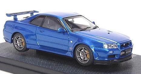 EBBRO 1/43 Nissan Skyline GT R R34 V Spec II Blue(Japan