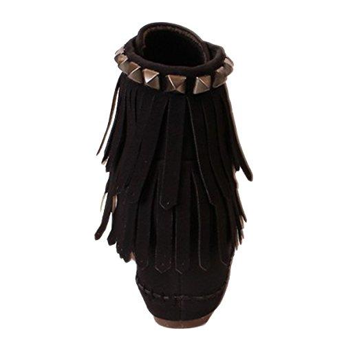 Coklico - Lowboots noir franges aspect daim - style Ash