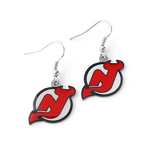 NHL New Jersey Devils Logo Dangler Earrings