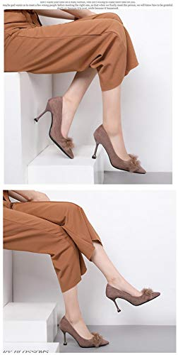 Doux Partie Uengf Décorer Chaussures En Femmes Papillon Nœud Pompes Hiver Talons Métal En Daim Hauts En 41 g7ZqUcgS