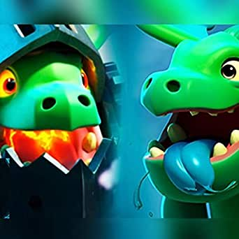 Bebe Dragon Vs Dragon Infernal Clash Royale by Hat Black on ...