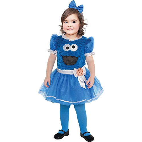 Suit Yourself Cookie Monster Tutu Dress Halloween Costume for Babies, Sesame Street, 12-24M, with Headband]()