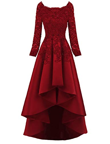 a38fbdf573cf8 Scarisee Women's 2019 Long Sleeves High Low Prom Evening Dresses ...