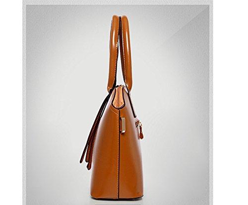 Moda Vintage Nueva Hombro Simple Una Handbag Bolso De De Gwqgz Madre Cuero Lady'S Bolsa B5fFFwq