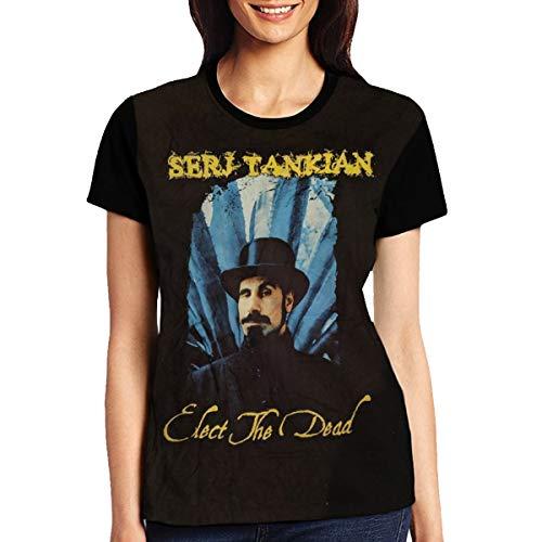 Shirt Fans Design Fashion Casual Custom for Womens Short Sleeve(L)