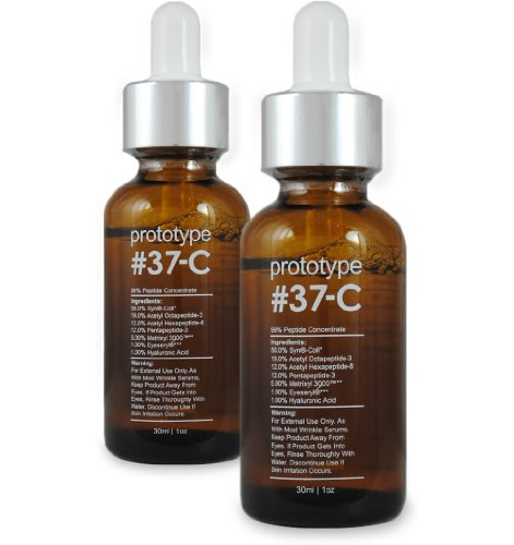 Prototype 37-C (2 Pack) - Age & Wrinkle Serum with 99% Peptide Concentration - Feel Young Again (Prototype 37 C Best Price)
