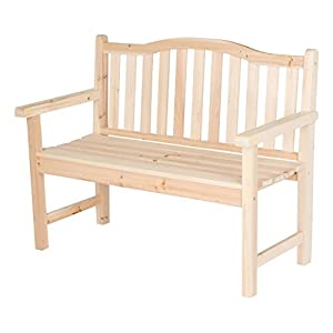 Shine Company Belfort Garden Bench, Natural
