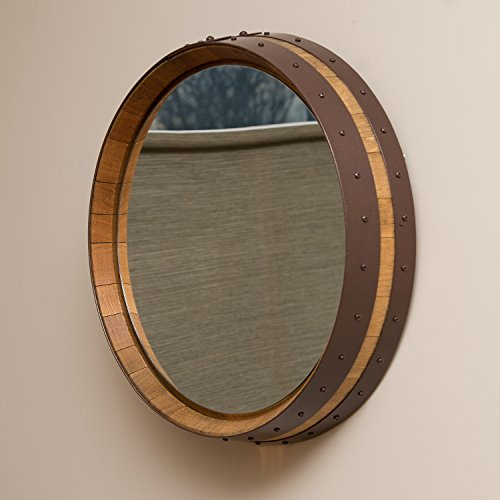 wine barrel mirror - 2