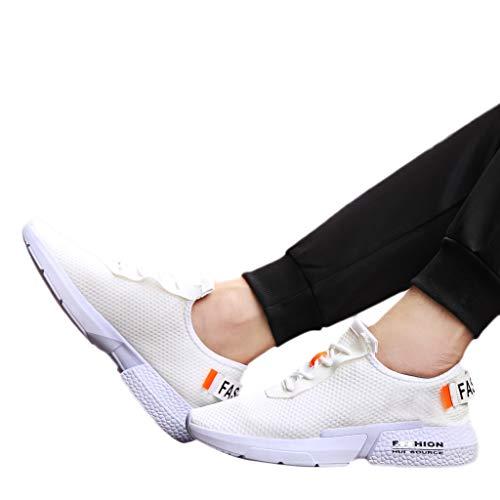 Bianco Corsa Comode Zolimx Uomo Scarpe Casual white Maschile Scarpe Sport Moda Da Sneaker OOBwP