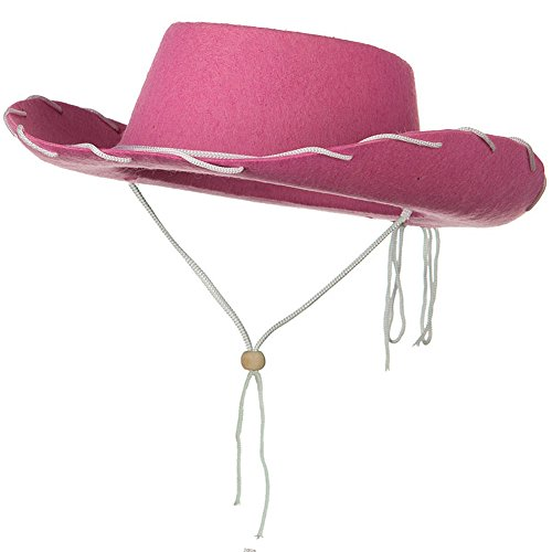 Jacobson Hat Company Childs Western Jessie Style Kids Cowboy Ranch Hat Pink
