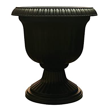 Utopian Urn, 19 Inches, Black