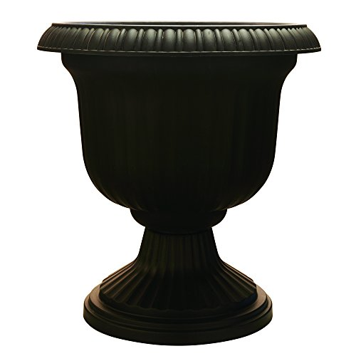 Utopian Urn, 19 Inches, Black (Large Outdoor Urns Planters)