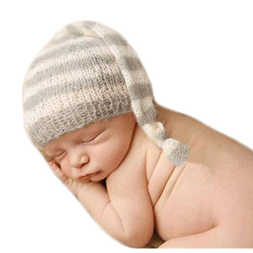 Baby Photography Props Boy Girl Photo Shoot Outfits Newborn Crochet Costume Infant Knitted Clothes Hats (Gery) ()