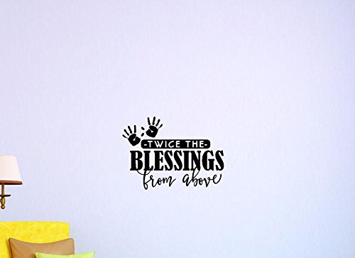 20 Inches X 30 Inches Color Black 20 x 30 Design with Vinyl US V JER 3748 3 Top Selling Decals Twice The Blessings From Above Wall Art Size