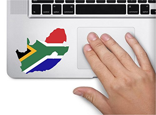 Map with flag inside South Africa 3x3.4 inches sticker decal die cut vinyl - Made and Shipped in USA