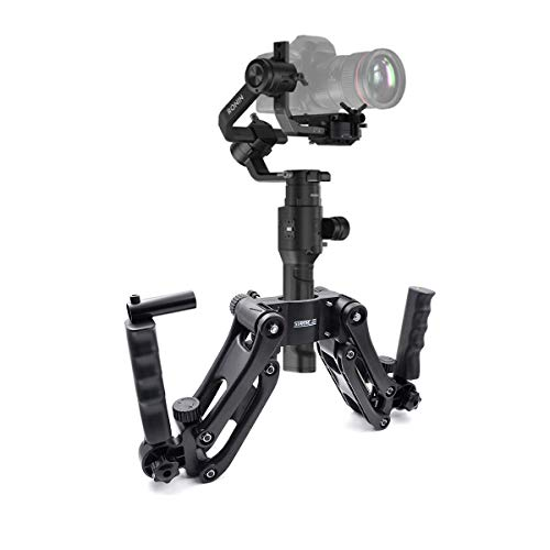 4th Axis Gimbal Stabilizer 4.5KG Load Dual Handle Arm with Spring Steadicam Rig for Zhiyun Gimbal Crane 2 V2 Crane Plus Feiyu A2000 DJI Ronin S -