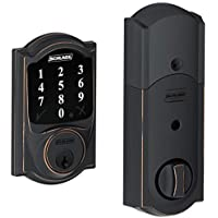 Schlage Connect Camelot Touchscreen Deadbolt Z-wave Technology Extra Key BE468-2
