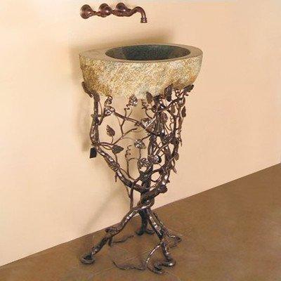 Aspen Trail Boulder Pedestal Bathroom Sink Sink Finish: Oil Rubbed Bronze