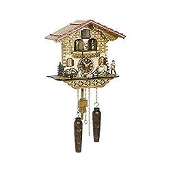 Trenkle Quartz Cuckoo Clock Swiss House with Music, Turning Dancers TU 4223 QMT HZZG