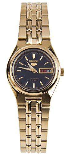 - Seiko Women's SYMA06K Seiko 5 Automatic Black Dial Gold-Tone Stainless Steel Watch