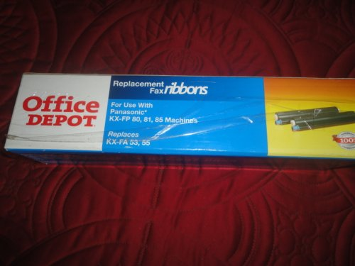 Office Depot Replacement Fax Ribbons, for Use with Panasonic KX-FP 80,81.85 Machines(Replaces KX-FA 53,55)