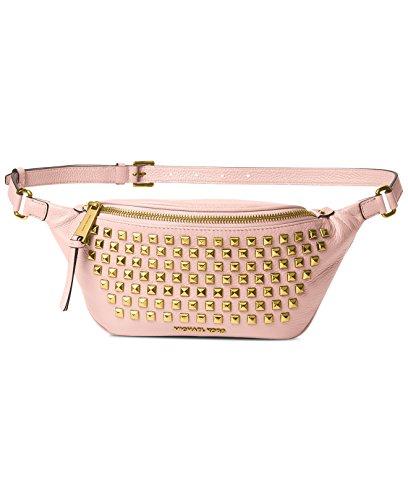 MICHAEL Michael Kors Rhea Zip PYR Stud Belt Bag (Blossom) by Michael Kors