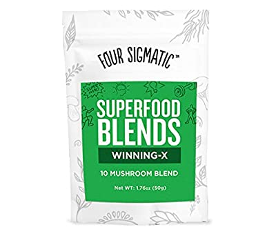 Four Sigma Foods Winning-X Blend Superfoods, Mushroom, 1.76 Ounce by Four Sigma Foods Inc