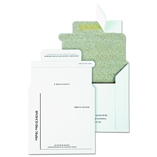 Quality Park QUAE7266   Recycled Multimedia/CD Mailers, Foam-Lined, 5x5, 25/Box