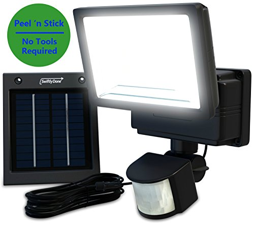 Swiftly Done Bright Outdoor Solar Powered Led Flood Light