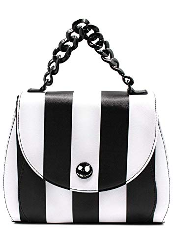 Loungefly Nightmare Before Christmas Womens Striped Saddle Crossbody Bag