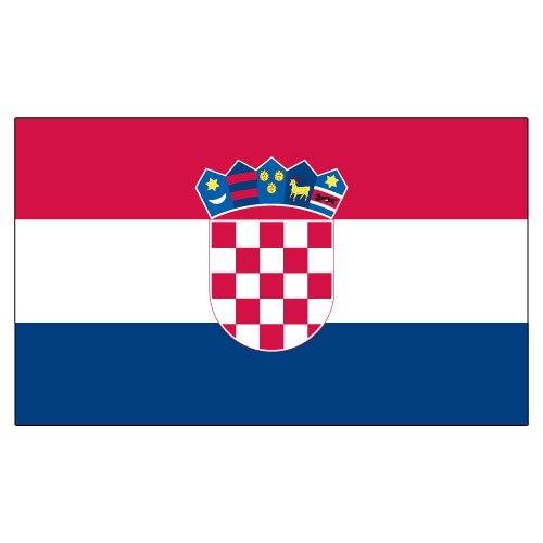 - US Flag Store Croatia 3ft x 5ft Printed Polyester Flag