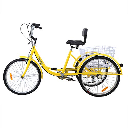 Ridgayard Modern 7 Speed 24 Inch 3 Wheel Adult Tricycle
