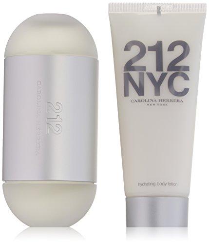 Carolina Herrera 212 For Women 2 Piece Set 3.4 Ounce Eau De Toilette Spray 3.4 Ounce Hydrating Body Lotion