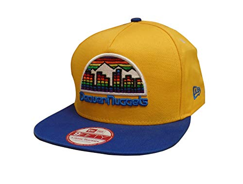 (New Era Denver Nuggets Turnover Team City Underbrim Adjustable Snapback Cap/Hat Yellow )