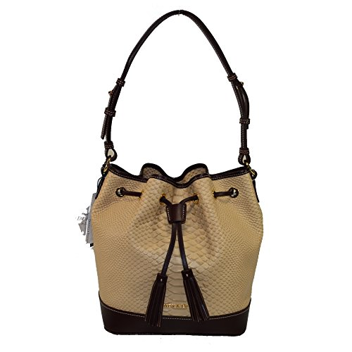 Dooney & Bourke Python emb Leather Drawstring Bag Sand / T'Moro