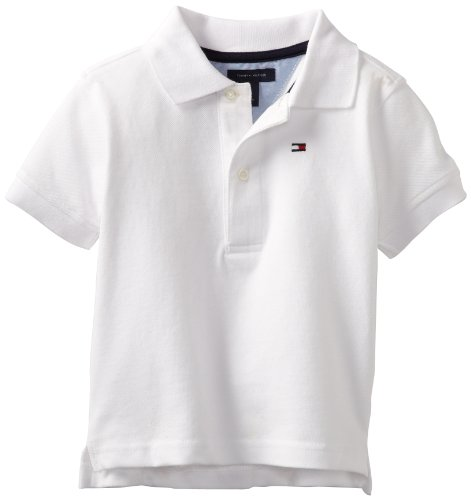 Tommy Hilfiger Baby Boys' Ivy Polo Shirt, White, 18 - Sale Kids Tommy