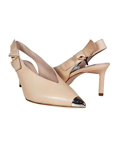 Uterque Women Slingback shoes with metal toe detail 4041/351 (38 EU | 7.5 US | 5 UK) by Uterque (Image #4)