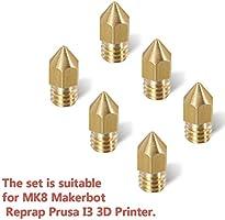 Witasm Boquilla 3D Impresora, Cabezal Extrusora 6 PCS 0,4 mm ...