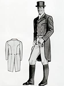 Men's Vintage Reproduction Sewing Patterns Mens Shadbelly Tailcoat Pattern - Sizes 38 -48 Chest Included $26.95 AT vintagedancer.com