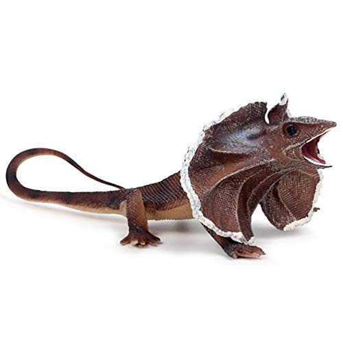 NACOLA Frill-Necked Lizard Toy Figure,Realistic Fake Small Animal Figures Model Educational Toys,Prop -