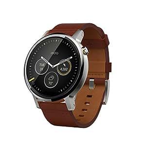 """Motorola Moto 360 - SmartWatch(WiFi, pantalla de 1.56"""", 2ª generación, 46 mm, QC 8026, 512 MB de RAM, Android Wear) color coñac"""