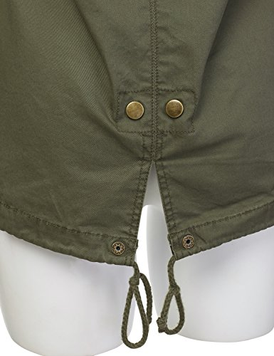 1683b2c7441 JJ Perfection Women s Casual Lightweight Cotton Anorak Army Utility Jacket  OLIVE M - Buy Online in UAE.